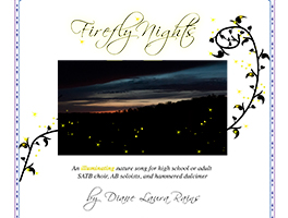 Firefly Night – choral music digital score